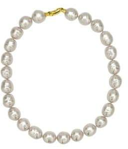 Majorica 14MM White Baroque Pearl Necklace