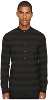 Matiere Brennon Striped Woven Pullover Tunic Men's Clothing