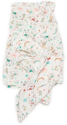 Loulou Lollipop Llama Deluxe Muslin Swaddle Blanket