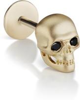 Maria Tash Black Diamond Matte Skull Threaded Stud Earring