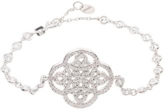 Celtic Knot Clover Tennis Bracelet Silver