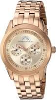 Porsamo Bleu Women's 741CDIS Diana Diamond & Stainless Steel Rose Tone Watch