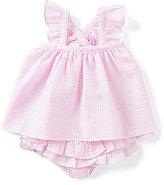 Edgehill Collection Baby Girls Newborn-24 Months Flutter-Sleeve Striped Seersucker Dress