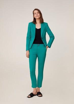 MANGO Suit slim-fit pants green - 2 - Women