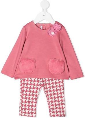 Le Bebé Enfant Two-Piece Houndstooth Set