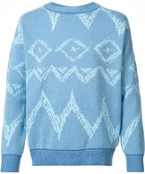 Baja East patterned jumper - men - Cashmere - 3