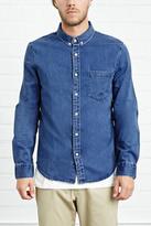 Forever 21 FOREVER 21+ Denim Pocket Shirt