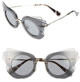 Miu Miu Women's 63Mm Layered Butterfly Sunglasses - Grey