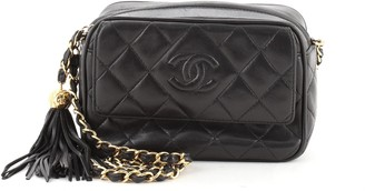 Chanel Front Pocket Camera Bag Quilted Leather Mini
