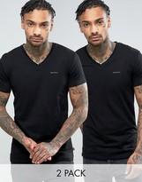 Diesel V Neck Two Pack T-Shirt In Slim Fit
