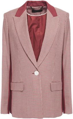 Rag & Bone Elizabeth Houndstooth Cotton And Wool-blend Blazer