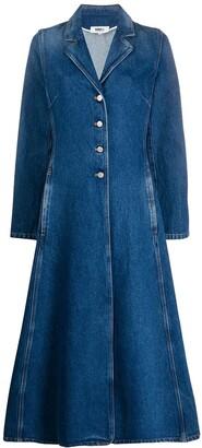 MM6 MAISON MARGIELA Single Breasted Denim Coat