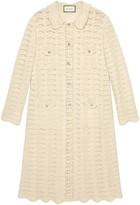 Gucci Oversize crochet wool cardigan