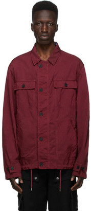 Kenzo Burgundy Canvas Workwear Jacket
