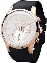 Jorg Gray Men's JG5100-34 Rose Gold Black Silicone Strap Watch