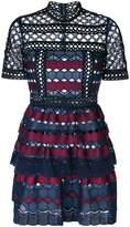 Self-Portrait geometric crochet dress