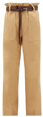 Sea Scott Paperbag-waist Cotton-blend Trousers - Camel