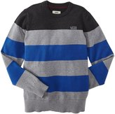 Vans Sylmar Sweater (Kid) - Concrete/Blue-Small