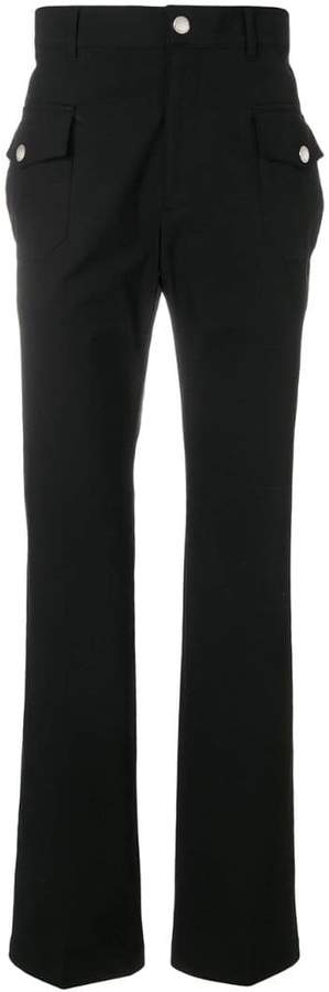 Givenchy flap pocket straight leg trousers