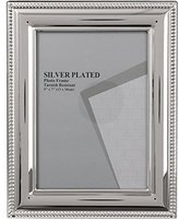 Evergreen Tarnish Resistant Silver Plated Bead Photo/Picture Frame, 5x7 inch