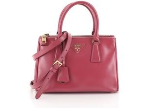 Prada Double Zip Lux Tote Vernice Saffiano Leather Mini