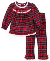 Little Me Girls Christmas Pajamas - Infant or Toddler Pant Set