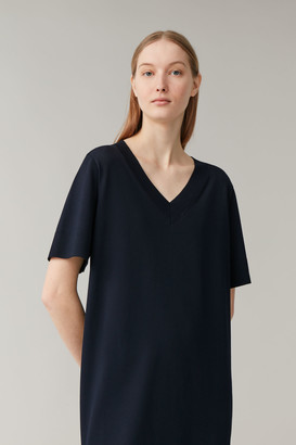 Cos Knitted V-Neck Dress