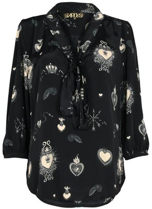 Stardust - Candy Heart Black Blouse - X Small