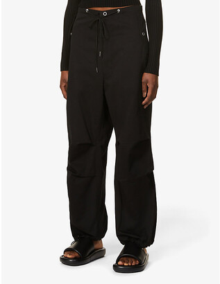 Dion Lee Parachute tapered high-rise cotton trousers