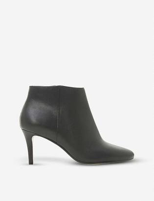 Dune Almond-toe leather ankle boots