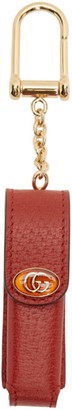 Gucci Red Single Porte-Rouges Keychain
