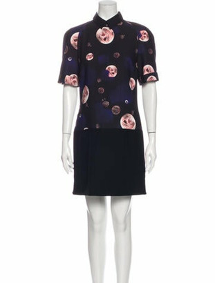 Victoria Beckham Printed Mini Dress Black