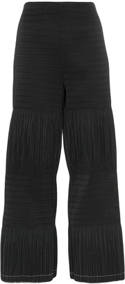 Area Pleated Crop Trousers