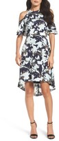 Julia Jordan Women's Print Cold Shoulder Dress