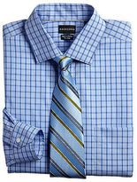 Rochester Mini Houndstooth Check Dress Shirt Casual Male XL Big & Tall