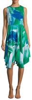 Julia Jordan Printed Flared Dress