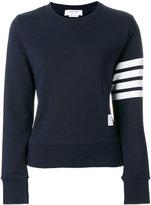 Thom Browne striped sleeve sweatshirt