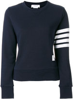 Thom Browne Womens Pullover Sweatshirt With Engineered 4-Bar Stripe