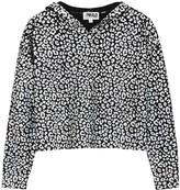 Threads Of Prvlg THREADS OF PRVLG Black Leopard-print Cashmere Jumper
