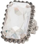 Sorrelli Gray & Silvertone Emerald-Cut Ring With Swarovski® Crystals