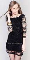 eDressMe Black Lace Mini Dresses
