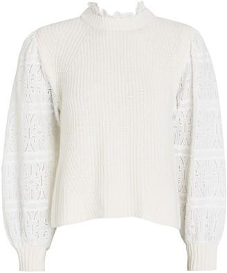 Sea Iris Puff Sleeve Sweater