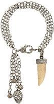 Loree Rodkin chain charm bracelet with diamonds