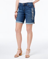 Style&Co. Style & Co Embroidered Cuffed Shorts, Only at Macy's