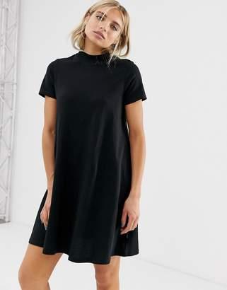 Cheap Monday organic cotton a line t-shirt dress-Black