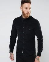 Lee Slim Cord Western Shirt Black