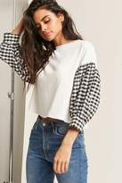 Forever 21 Contrast Gingham Top