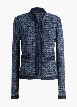 St. John Novelty Ribbon Tweed Knit Jacket