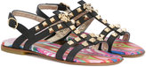 Roberto Cavalli logo studded sandals - kids - Goat Skin/Leather/metal/rubber - 28