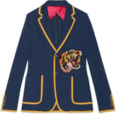 Gucci Cotton jersey jacket with embroidery
